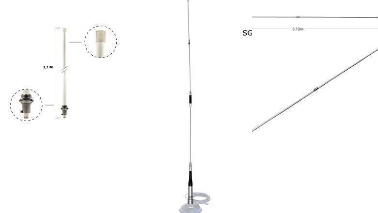 ANTENA BIBANDA VHF UHF