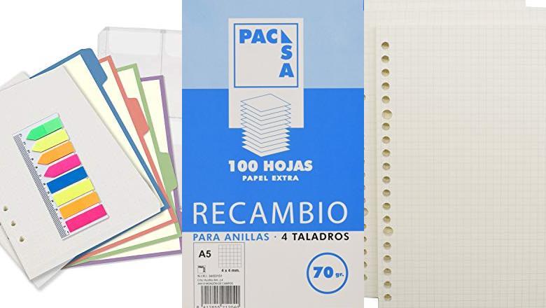 ARCHIVADORES Y RECAMBIO A5