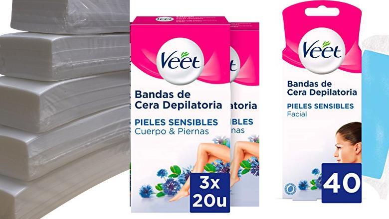 BANDAS DE CERA DEPILATORIA