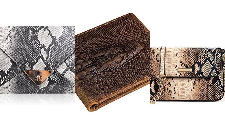 6808eb877 Estilo Box y Estampado Piel de Serpiente Zapatos y complementos Caspar  TA529 Clutch para Mujer