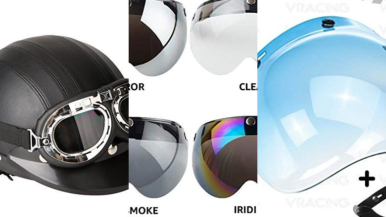 CASCO DE MOTO RETRO INTEGRAL