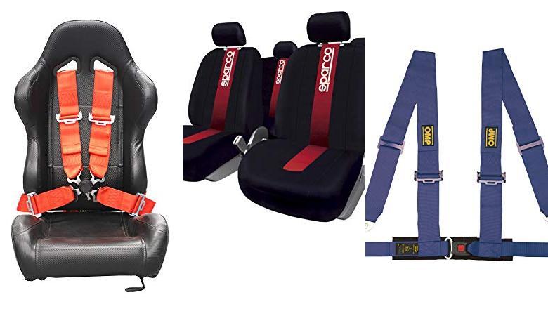4X Topes para Cinturon de Seguridad Botones plastico Universal Twowinds