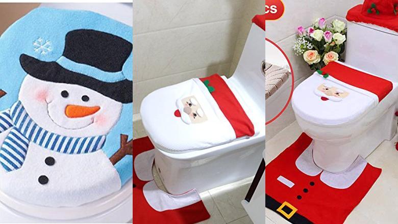 Juego de 3 Fundas de Papel higi/énico para decoraci/ón de Navidad kungfu Mall
