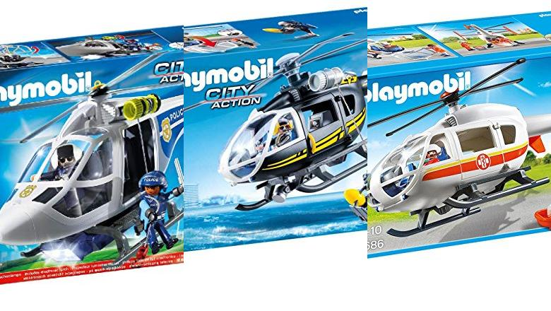 JUGUETES HELICOPTERO PLAYMOBIL