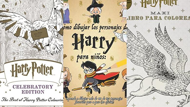 LIBRO HARRY POTTER COLOREAR