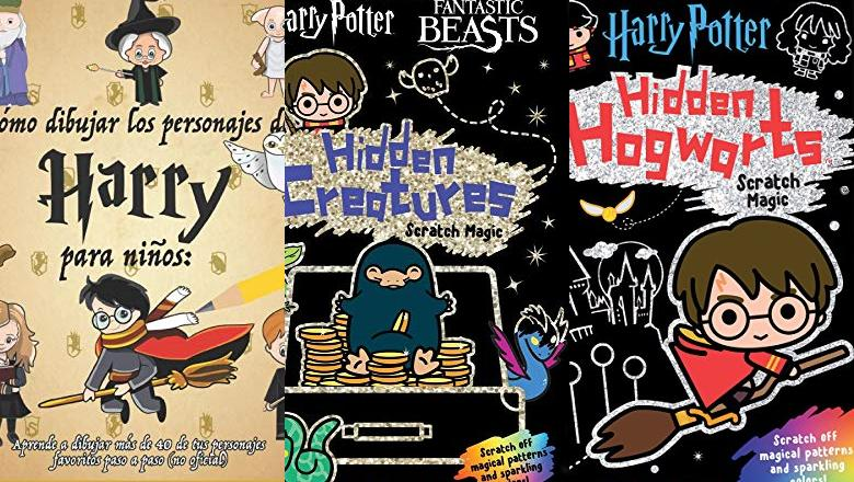 LIBRO HARRY POTTER CON DIBUJOS