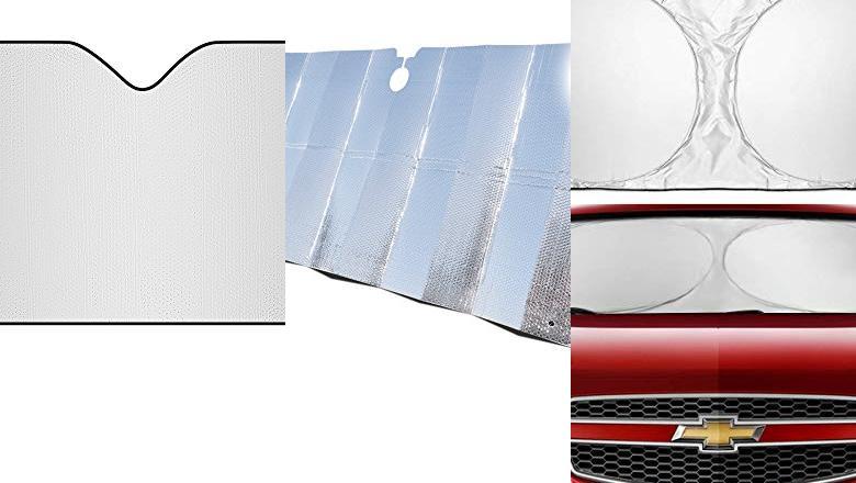 YJWLO Parasol plegable para ventana frontal de coche 130 x 70 cm