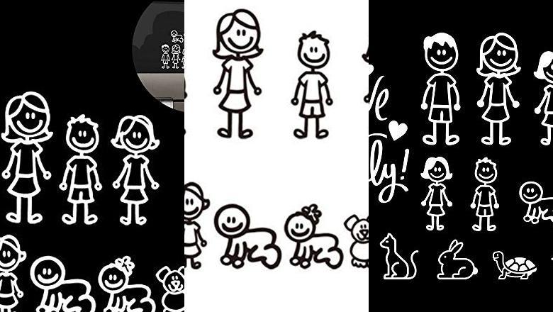 PEGATINAS FAMILIA COCHE
