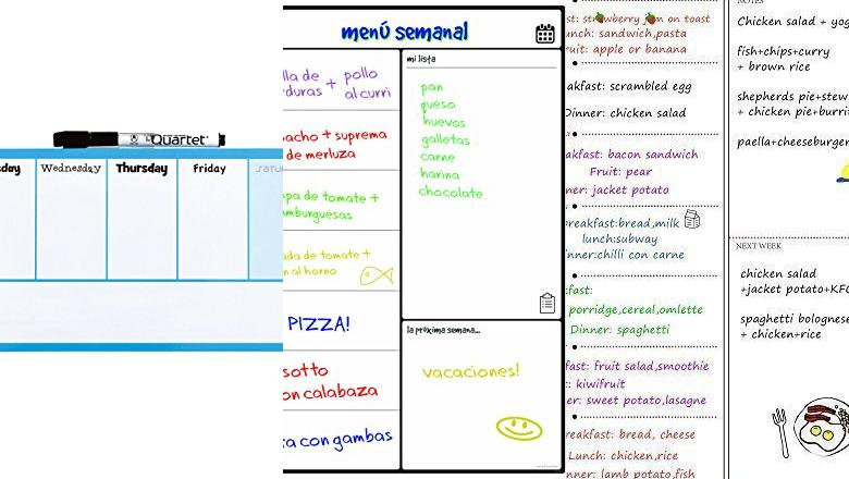 PIZARRAS SEMANAL PARED
