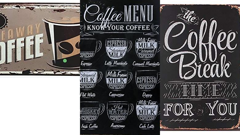 PLACAS METAL VINTAGE COFFEE