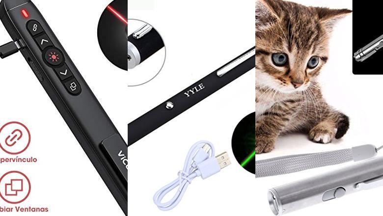 PUNTEROS LÁSER USB RECARGABLE