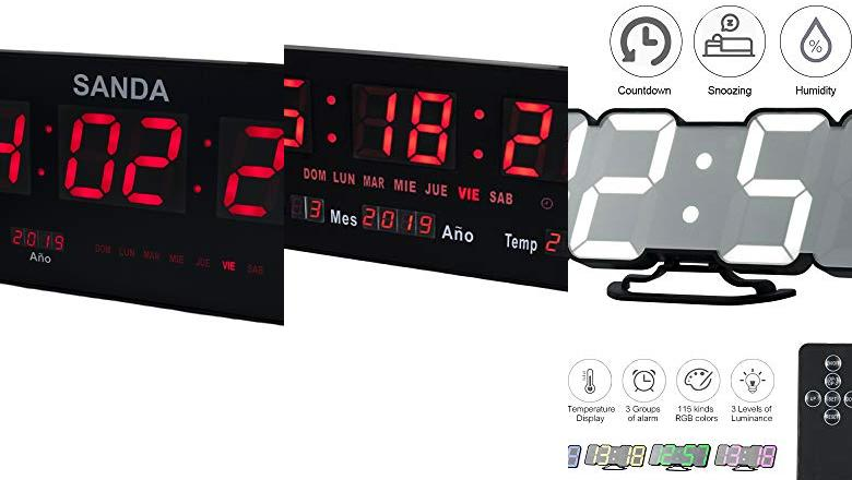 RELOJES DE LED DE PARED