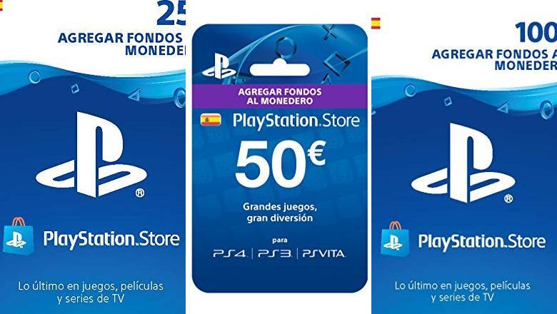 TARJETA 50 EUROS PS4