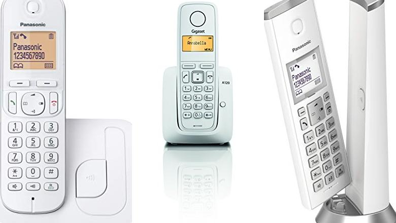 TELÉFONOS INALÁMBRICOS BLANCO