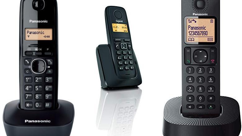 TELÉFONO INALÁMBRICO NEGRO
