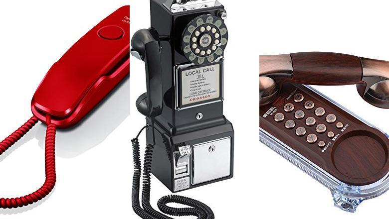 TELÉFONOS VINTAGE PARED